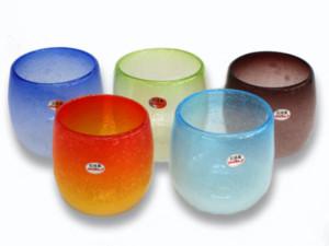 泡タル型グラスカラフルセット